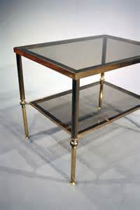 terrace side table glass antique brass antiques atlas a pair of brass and glass side tables