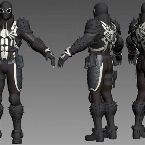 Chief Hybrid Panthera 3d printable model venom flash thompson