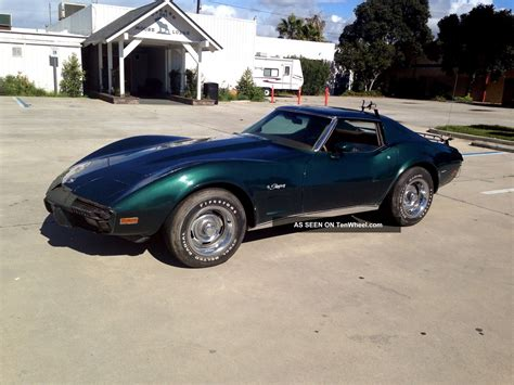 corvette stingray green 1976 corvette stingray t top green with buckskin