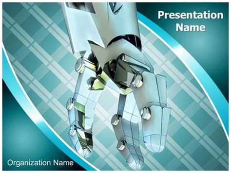 Industrial Robot Powerpoint Template Background Subscriptiontemplates Com Robot Powerpoint Template