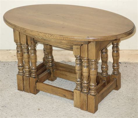 Nest Coffee Tables Antiques Atlas Oval Oak Nest Of Coffee Tables