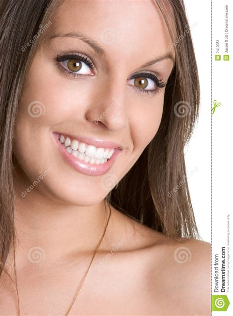 beautiful videos beautiful smiling woman stock image image 2410351