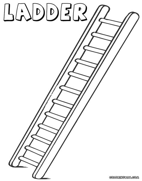 Coloring Page Of A by Ladder Coloring Pages Coloring Pages To And Print