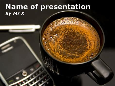 Blackberry Phone Coffee And A Pen Powerpoint Template Coffee Powerpoint Template Free