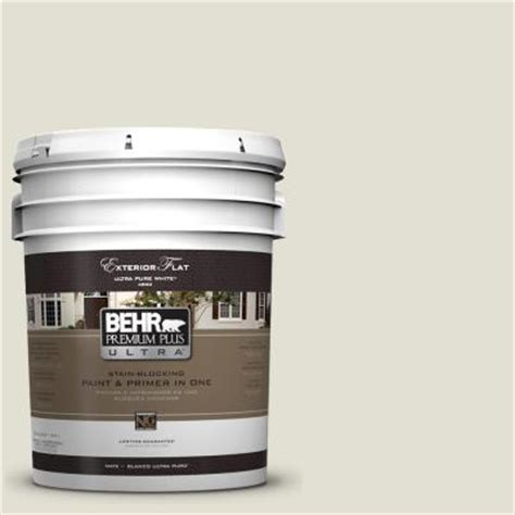 behr premium plus ultra 5 gal 400e 2 turtle dove flat exterior paint 485005 the home depot