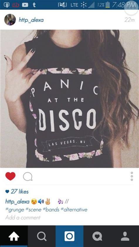 T Shirt Panic At The Disco Black t shirt panic at the disco band t shirt merch top