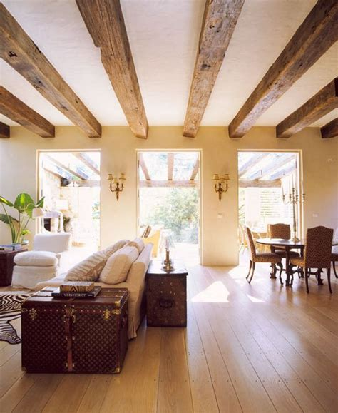 exposed wood beams cozy living room designs with exposed wooden beams 34