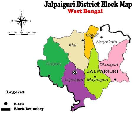 district map of maps of jalpaiguri district west bengal