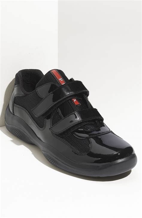 prada shoes prada sneaker in black for lyst