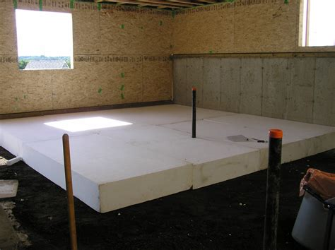 basement floor insulation basement floor slab 171 cottonwood passive house
