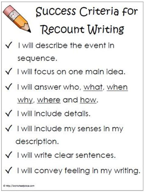 25 best recount writing ideas on