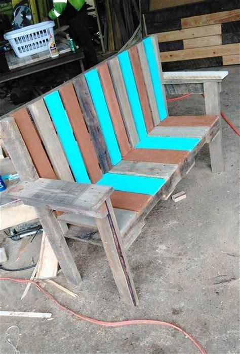 diy outdoor bench seat pallet garden bench seat 101 pallets