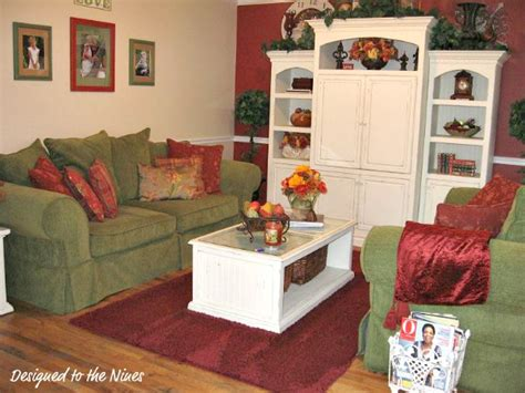 green and red living room designed to the nines a little less country a little