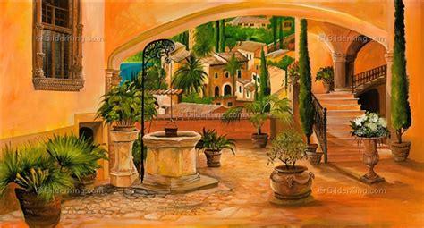 Mediterrane Bilder Gemalt by Wandbild Morro Brunnen Des Lebens Wandbilder