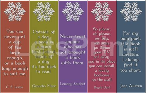 printable bookmarks with quotes from books items similar to books quotes printable bookmarks on etsy