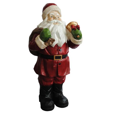 shop holiday living 2 85 ft santa outdoor christmas decoration at lowes com