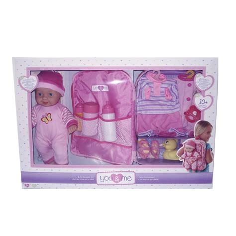 you me baby doll you me 28cm baby doll and backpack set toys quot r quot us