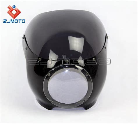 Motorrad Verkleidung Maske by Zjmoto Chopper Motorrad Scheinwerfer Verkleidung Maske