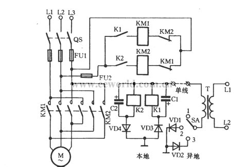three phase motor for single line remote commutation