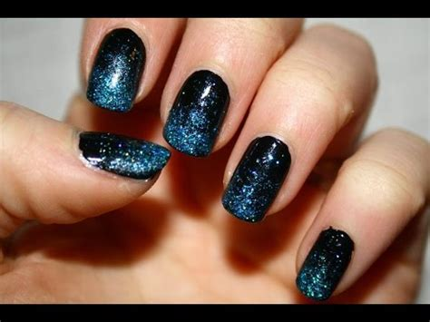 tutorial nail art glitter sfumatura in glitter tutorial nail art youtube