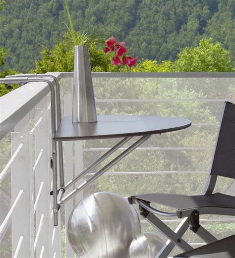 Balcony Railing Table fantastic idea for a small balcony a small table for
