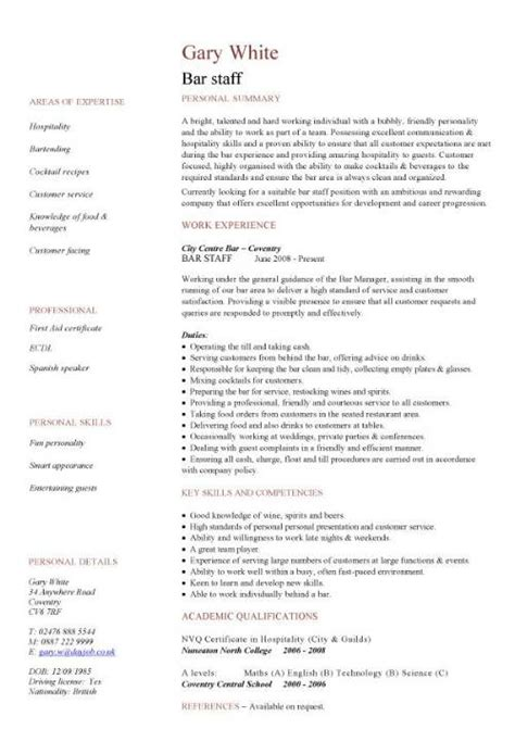 resume template hospitality hospitality cv templates free downloadable hotel