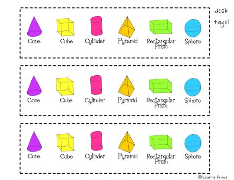 d names mrs prince and co 3 d shapes poster pack