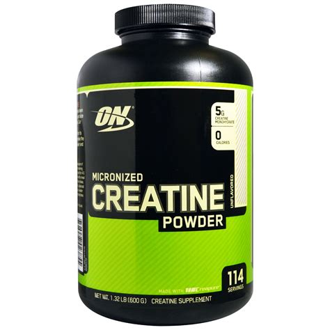 o n creatine optimum nutrition micronized creatine powder unflavored