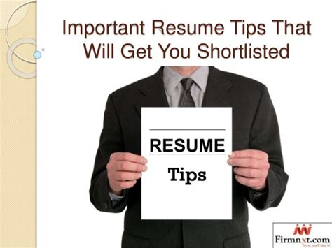 important resume tips important resume tips that will get you shortliste