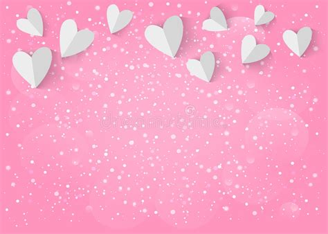 pink wallpaper eps white paper 3d heart on pink background vector eps 10