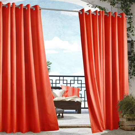 tangerine drapes tangerine polyester gazebo curtains with grommets dfohome