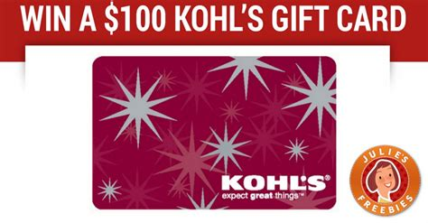 Kohls Free Gift Card - win a 100 kohl s gift card julie s freebies