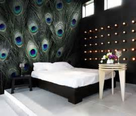peacock bedroom ideas blue peacock feather pattern wall murals modern