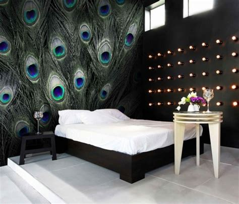 artistic peacock wall embellishment idea for modern home