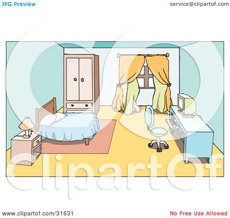 bedroom video clip clipart illustration of a bedroom interior of a nightstand