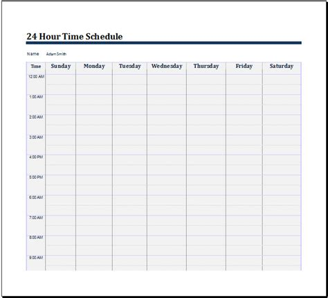 24 Hour Schedule Template Time Word Document Templates Current Captures Accordingly 24 Hour Schedule Template