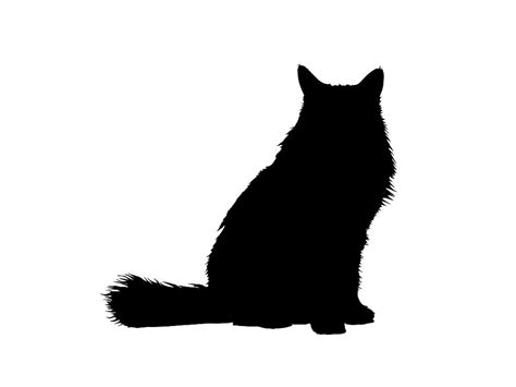 tattoo black cat silhouette long haired cat silhouettes google search silhouettes