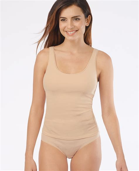Cotton Cami With Shelf by Comfy Cotton Camisole With A Built In Shelf For Light