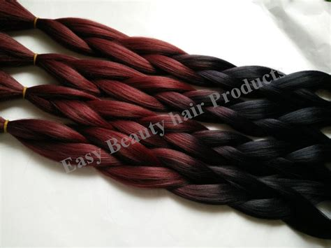 picture of red xpression braids black red synthetic hair 100 kanekalon jumbo yaki braiding