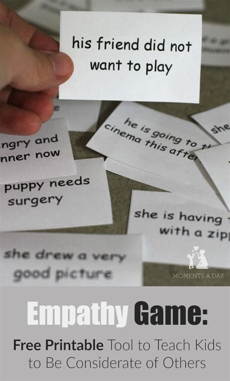 printable parenting quotes empathy game a tool to teach kids to be considerate free