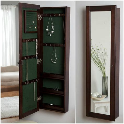 mirror jewelry armoire with lock 25 beautiful locking jewelry armoires zen merchandiser