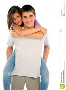 images teenage girl: teenage boy piggybacking teenage girl royalty free stock image image