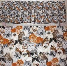 Cat Kitchen Curtains Cat Curtains Ebay
