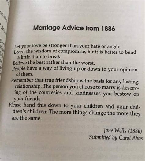 Wedding Advice Quotes by Marriage Advice From 1886 Quotes Other Stuff