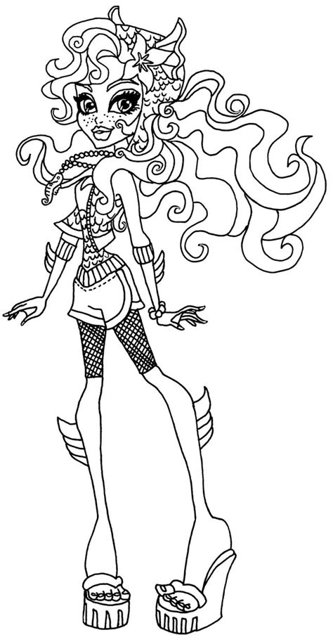 monster high lagoona coloring pages lagoona by elfkena on deviantart