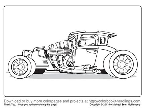 hot rod cars coloring pages 17 best images about art color book on pinterest