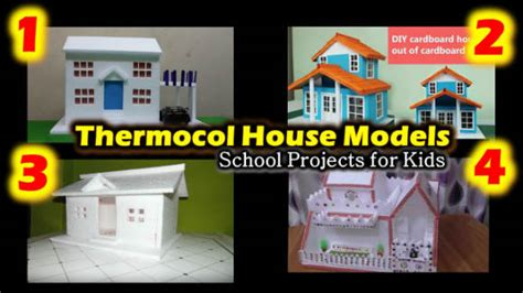how to make thermocol bungalow house model school project 4 thermocol house models school projects for kids