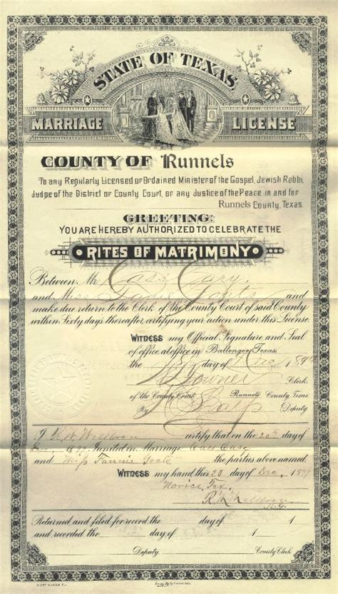San Francisco County Marriage Records Luther H Cary