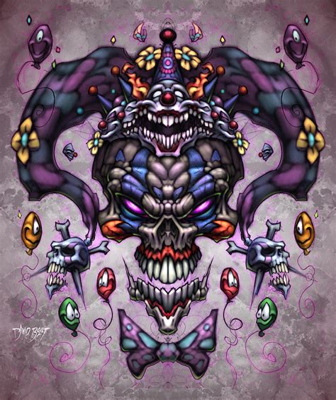 jester god digital art by david bollt