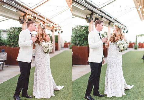 Wedding Ceremony Dallas by Renaissance Dallas Hotel Wedding Rooftop Ceremony